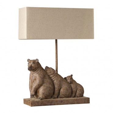Lampe famille 3 ours 45x17x38cm