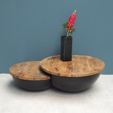 Table basse ronde 32x76x112 cm