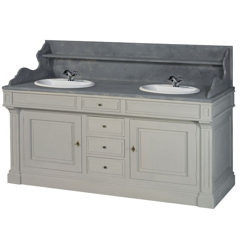 Meuble double lavabo for Lavabo de cuisine double