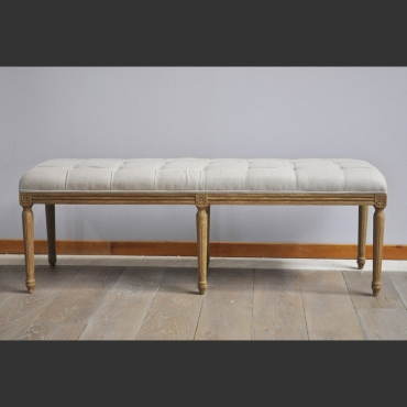 BANQUETTE LIN BEIGE CHEHOMA