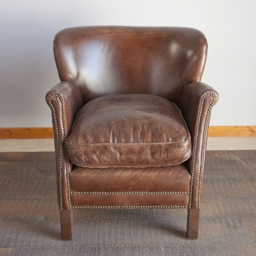 "FAUTEUIL CUIR ""TURNER"" CHEHOMA"