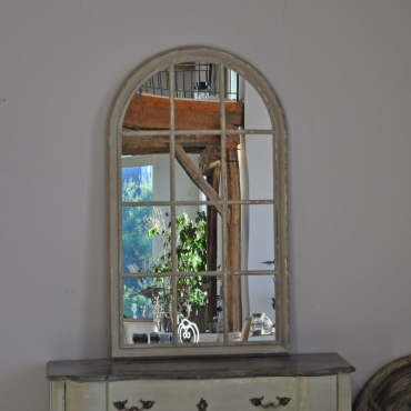 "GRAND MIROIR ""FENETRE"" PATINE"
