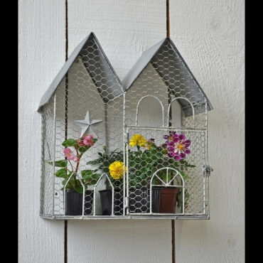 Support mural cage a plantes voliere - Support mural plantes ...