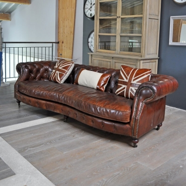 CANAPE CHESTERFIEDL BRITISH DIALMA BROWN