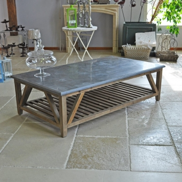 TABLE BASSE PIERRE BLEUE DIALMA BROWN