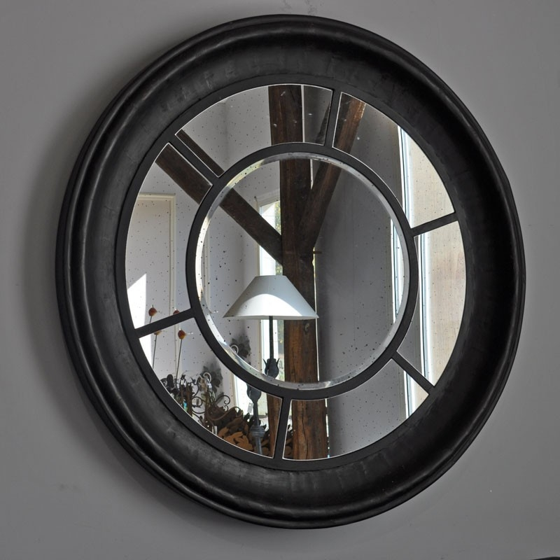 Grand miroir rosace 120cm for Miroir rond grand