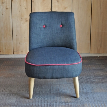 FAUTEUIL HARRY ANTRACITE/ ROUGE