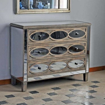 "COMMODE ""FIFTIES"" MIROIR"