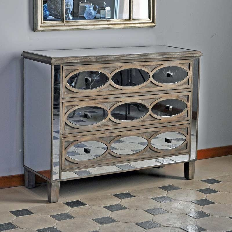 commode bois fifties miroir pomax. Black Bedroom Furniture Sets. Home Design Ideas