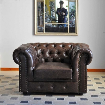 Fauteuil Chesterfield 97x119x71 cm