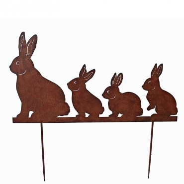 Silhouette famille lapins 67x73 cm