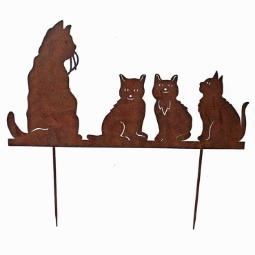 "SILHOUETTE ""FAMILLE CHATS"""