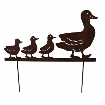 Silhouette famille Canards 66x74 cm