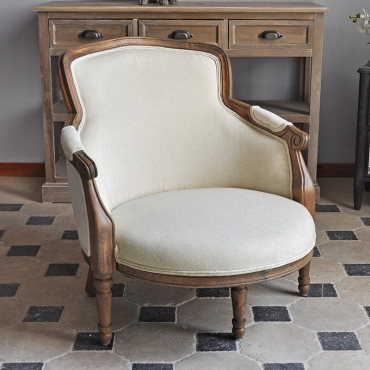 FAUTEUIL LIN STYLE LOUIS XV