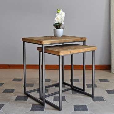Table basse style industriel fabrication artisanale - Petite table gigogne ...