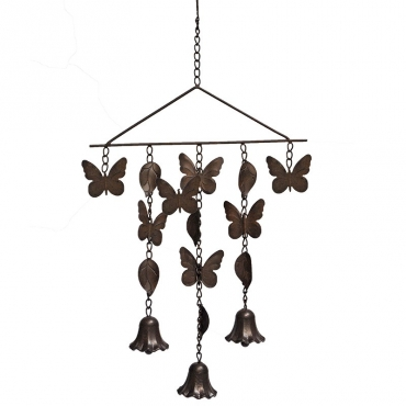 Suspension clochette papillon 68x34 cm
