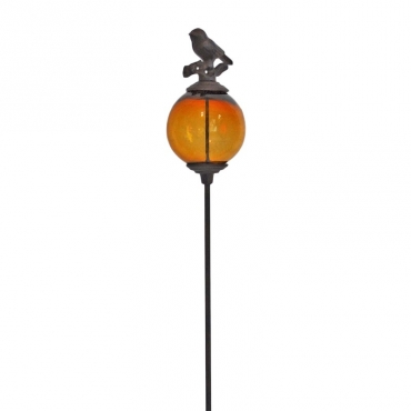 Tuteur boule oiseaux orange queue basse