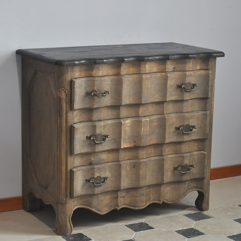 commode console en ch ne naturel. Black Bedroom Furniture Sets. Home Design Ideas