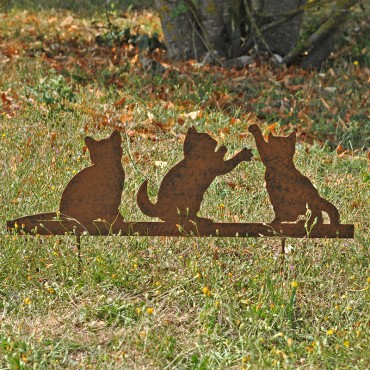 Silhouette Famille Chats