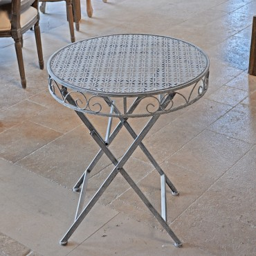 Table De Jardin En Fer 74X60cm