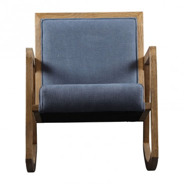 Rocking chair Laureli bleu 58x85x71 cm
