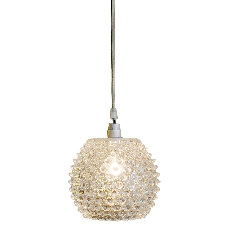 Suspension boule pointe de diamant 16 cm