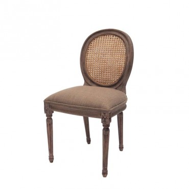 Chaise cannage Valbelle 93x47x47 cm