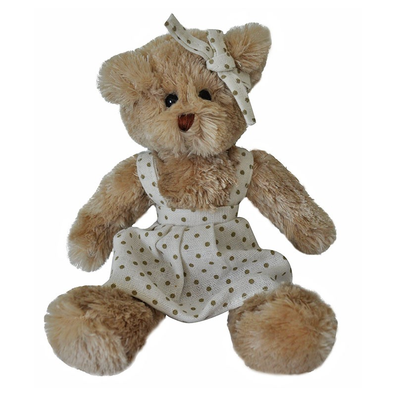Peluche ours fille 15x06x20 cm