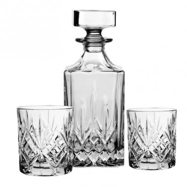 Coffret carafe 6 verres Whisky Melodia 09x23 cm