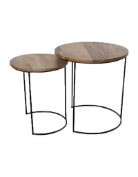 Tables basses gigognes rondes 43x46 cm