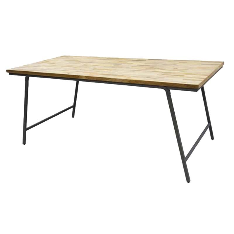 Table à manger industrielle pliable 180x90x77 cm