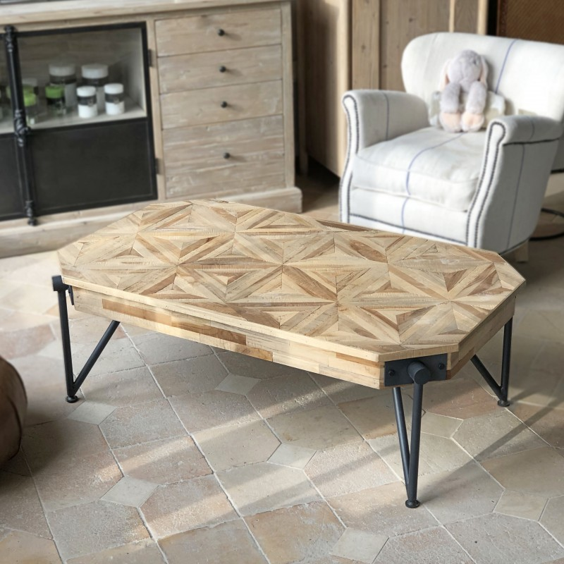 Table basse Anvers Tecky recyclé