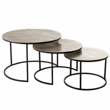 Set 3 tables gigognes rondes 74x40 cm Jolipa