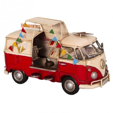Miniature combi VW rouge 27x15x17 cm