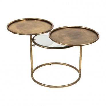 Table d'appoint ELUMINEA dore 104x42cm