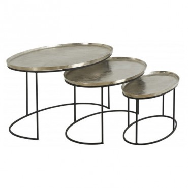 Ensemble 3 tables basses Como 99x60x48cm