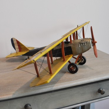 Avion miniature jaune 68x47x16 cm