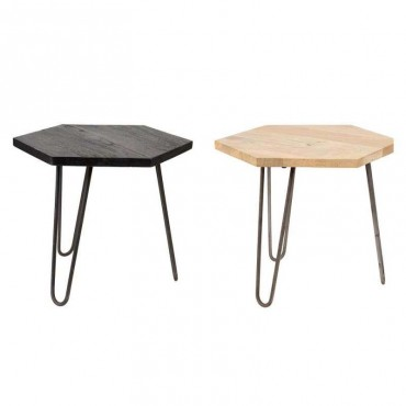 Tables d'appoint manguier 55x55x45cm