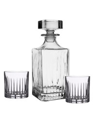 Coffret carafe 6 verres Whisky Timeless 09x22 cm