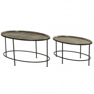 Ensemble deux tables basses cosmo 71x34x33cm