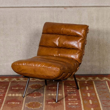 Fauteuil cuir Spinal 80x91x63cm