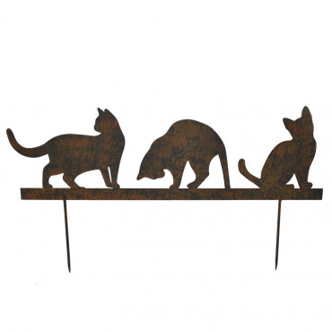 Silhouette chat 60x19 cm