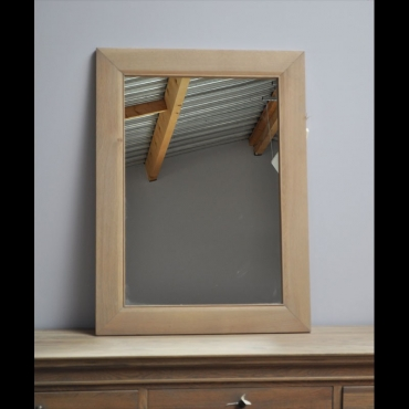 Miroir chêne rectangle 100x75cm