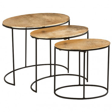 Set 3 tables gigognes or 62x45x53cm