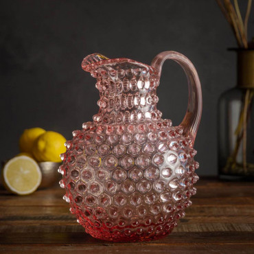 Carafe rose pointe de diamant 2L 23x17x19 cm