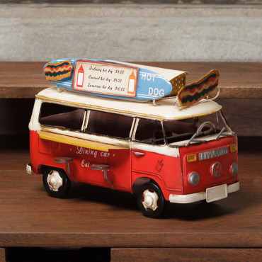 Miniature food truck 17x14x26cm