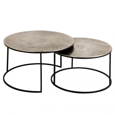 Set 2 tables gigognes Felia 75x75x44cm