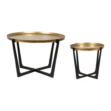 Set 2 tables d'appoint Dedali 84x51cm