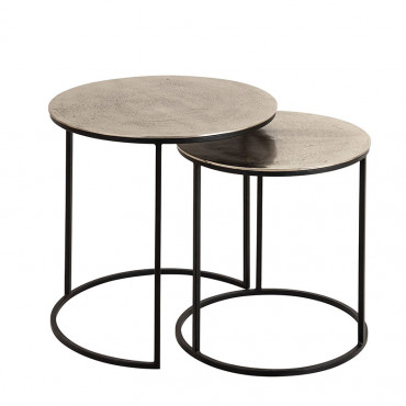 Set 2 tables gigognes Felia 52x46cm