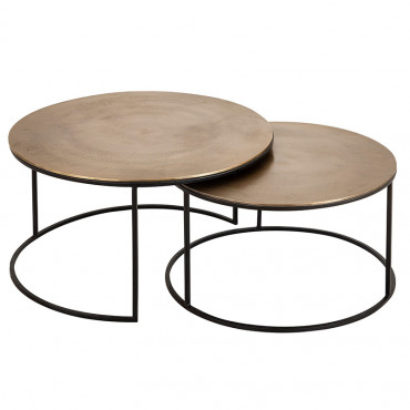 Set 2 tables gigognes Felia 75x44cm